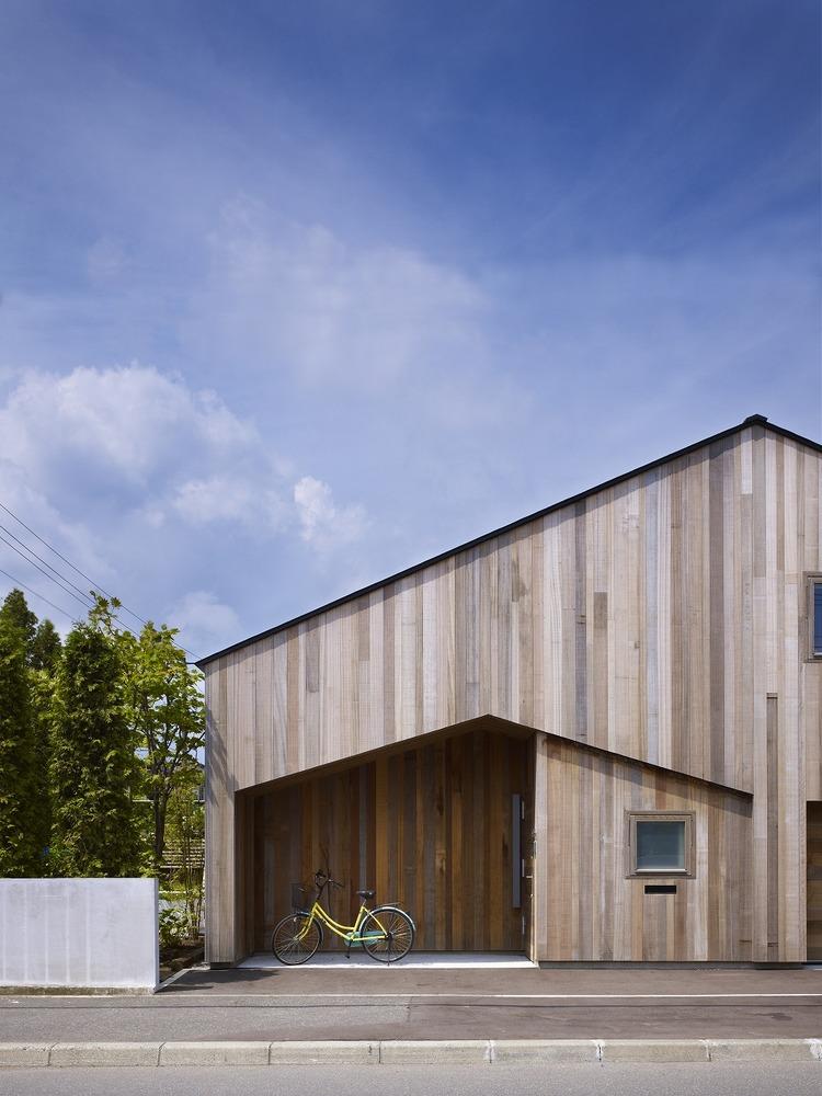 House K, diseñada en 2009 por el arquitecto Yoshichika Takagi. Visión externa
