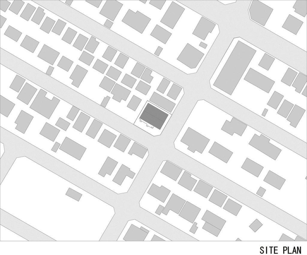 House K, Yoshichika Takagi. Site plan