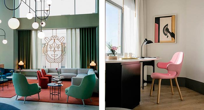 Sofás, sillas, espejos y un sinfín de elementos decorativos del hotel Barceló