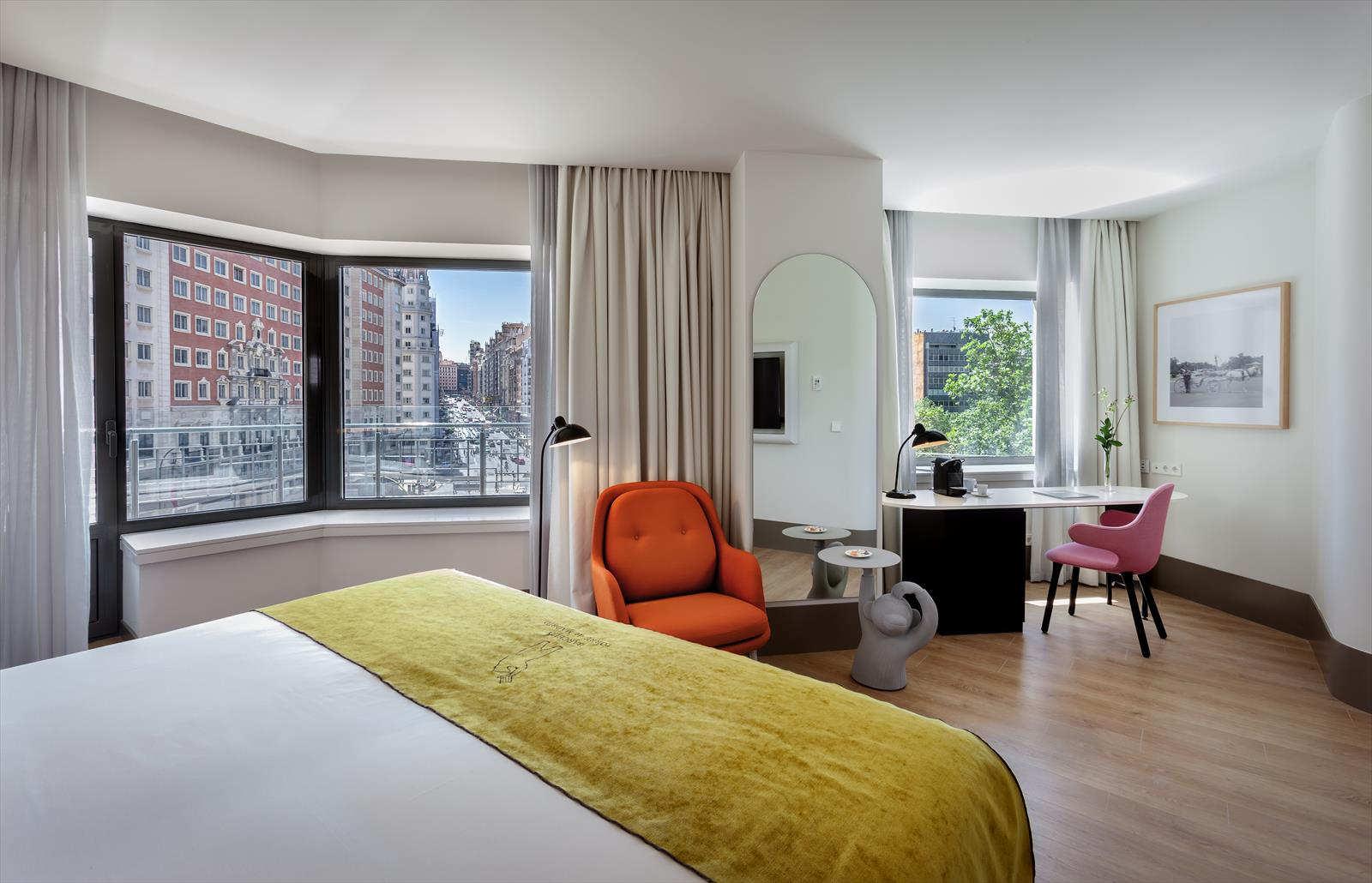Detalle de una de las habitaciones del Hotel Barceló Torre de Madrid
