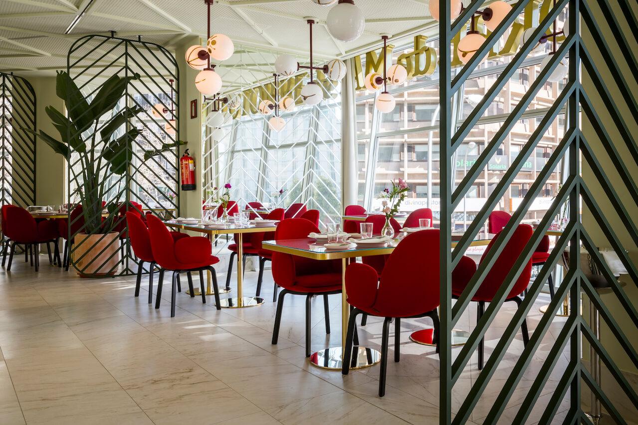 Detalle de las vistas desde la cristalera panorámica del Restaurante Somos