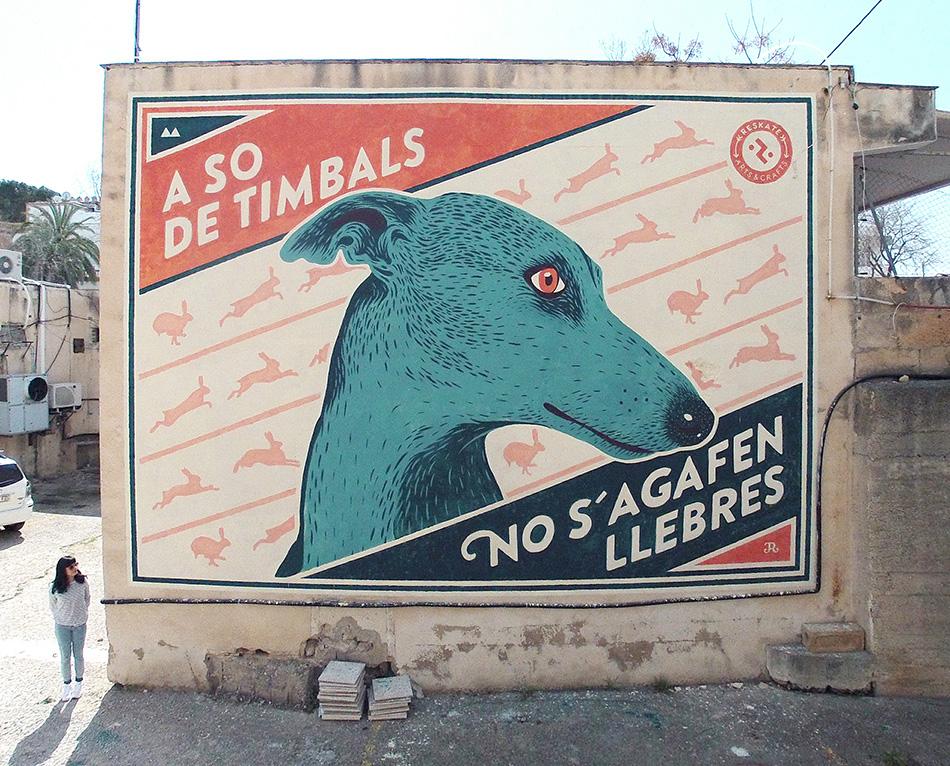 Mural A so de timbals Mallorca 2016 de Reskatestudio