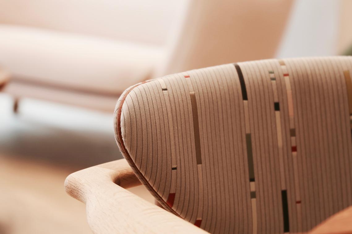 detalle del tapizado de la silla 108