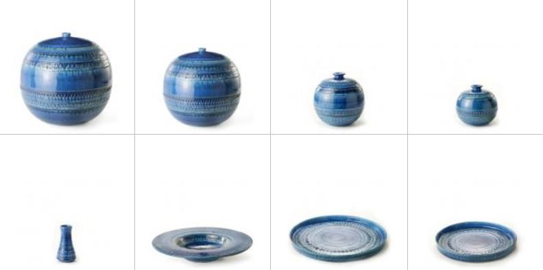 Coleccion rimini blue ideada por aldo londi, bitossi