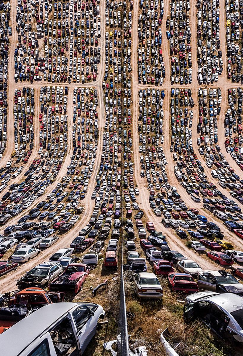 coches deformados imagen de