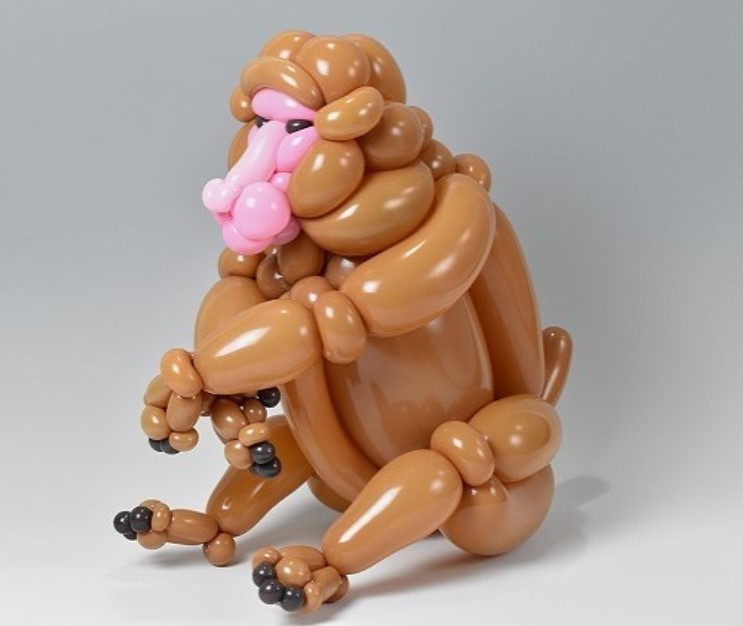 monkey realizado con globos por masayoshi matsumoto