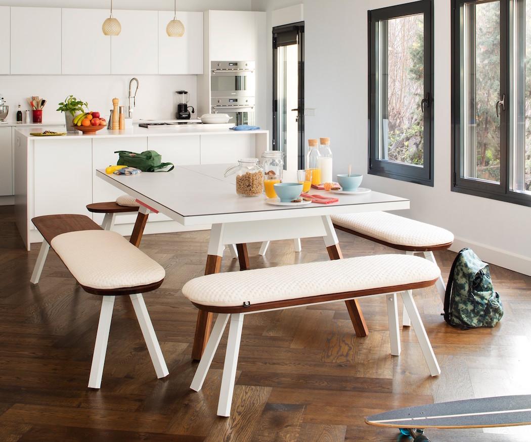 mesa pinpon cnvertida en mesa comedor