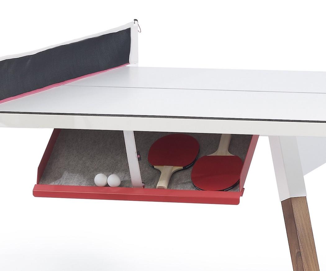 compartimento oculto bajo la mesa de pinpon