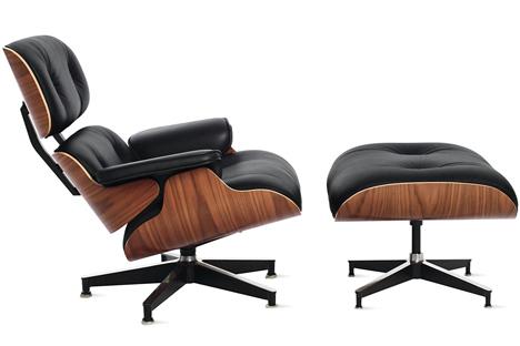 lounge chair 670 y otoman diseñada por los eames