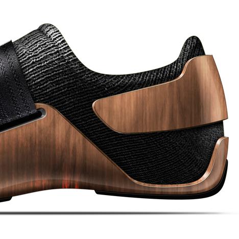 detalle del talón de la zapatilla nike diseñada por ora-ito