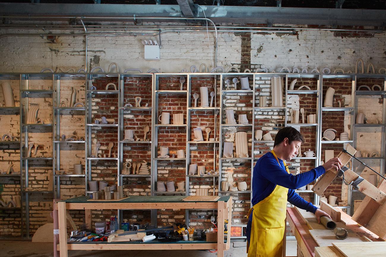 detalle del taller de cerámica