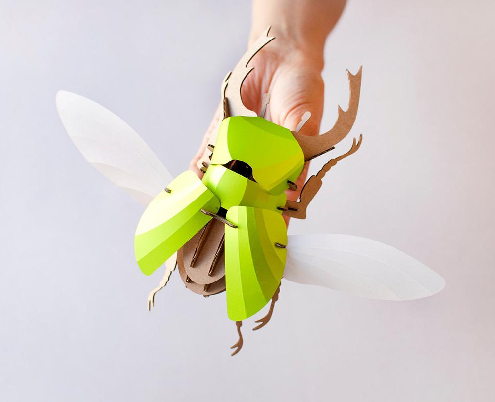 escarabajo stag verde lima de assembli