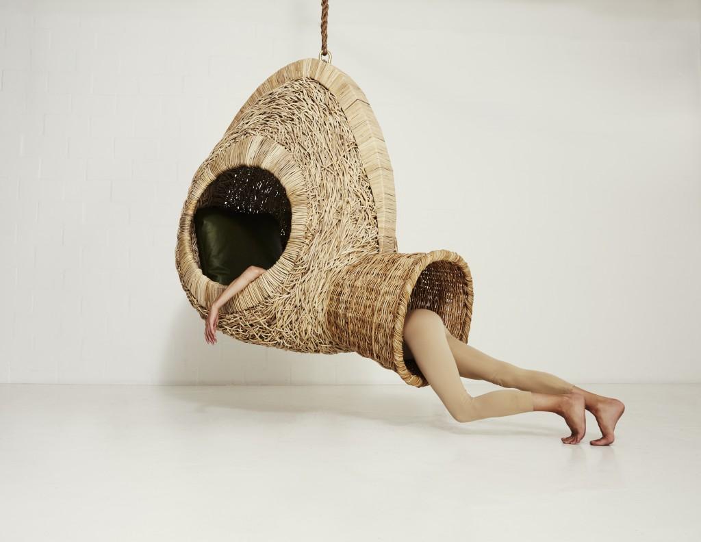 modulo de descanso inspirado en los nidos de las aves