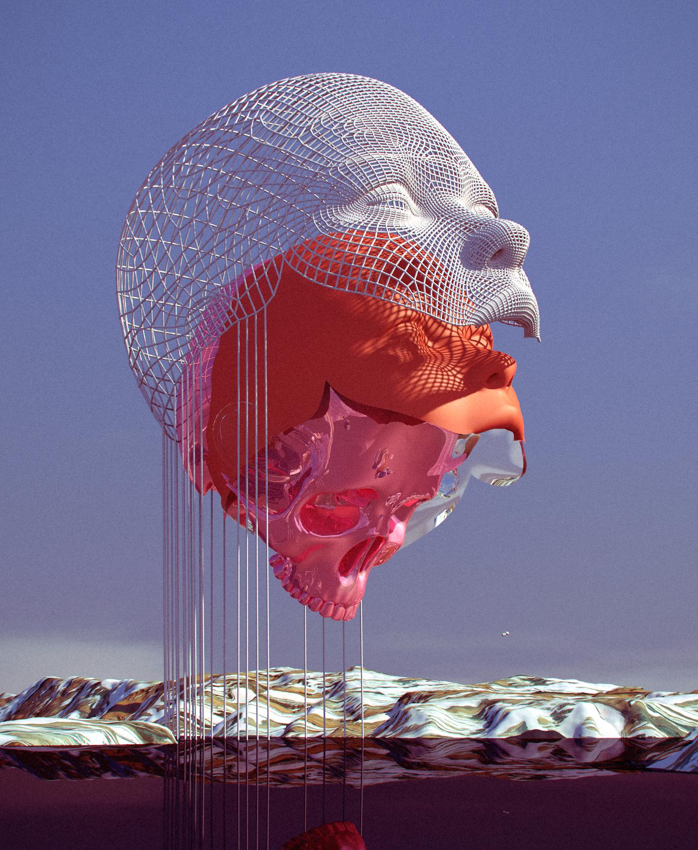 rostros y calaveras obra del fotografo digital chad knight