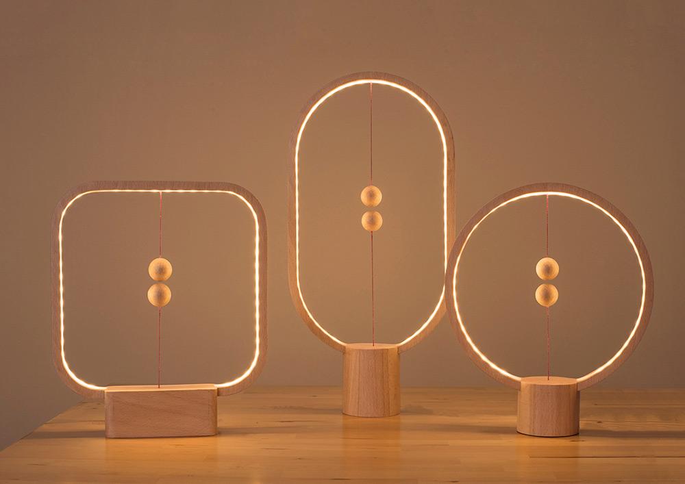 los 3 modelos de lámpara