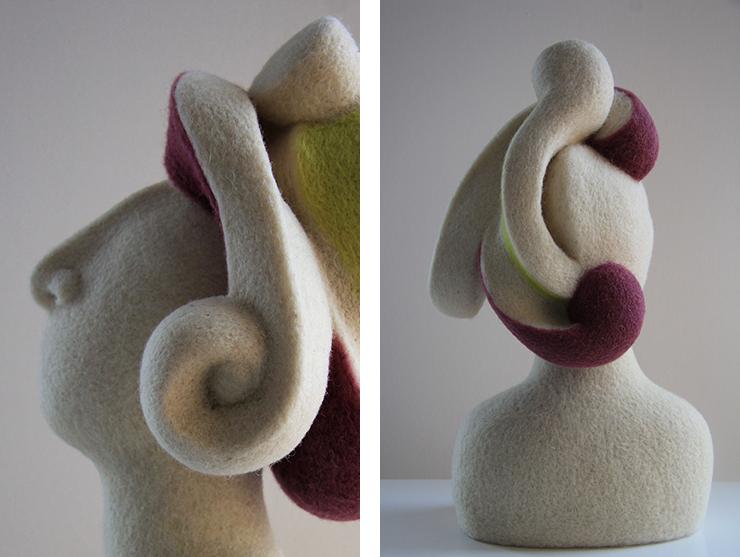 Pura lana, esculturas enigmáticas y delicadas