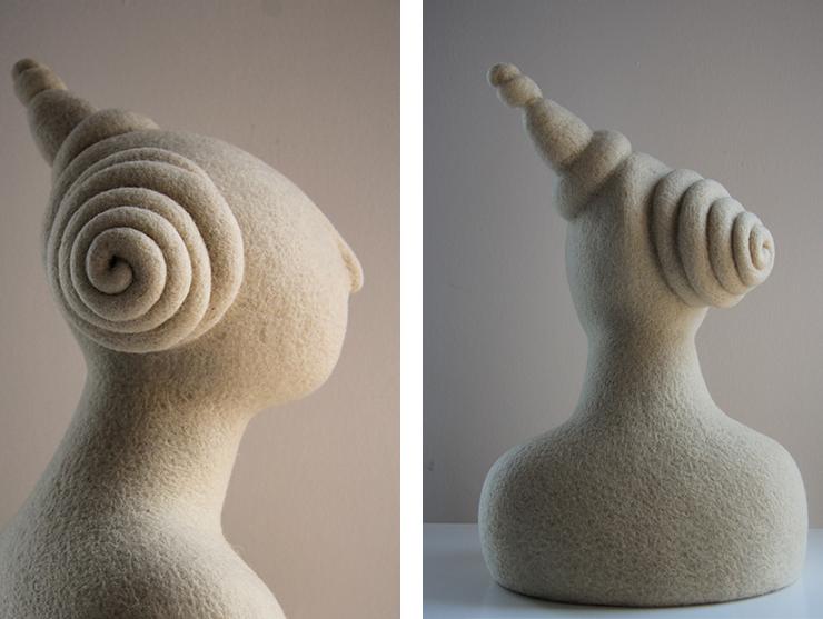 de pura lana, esculturas de Teresa Rancaño