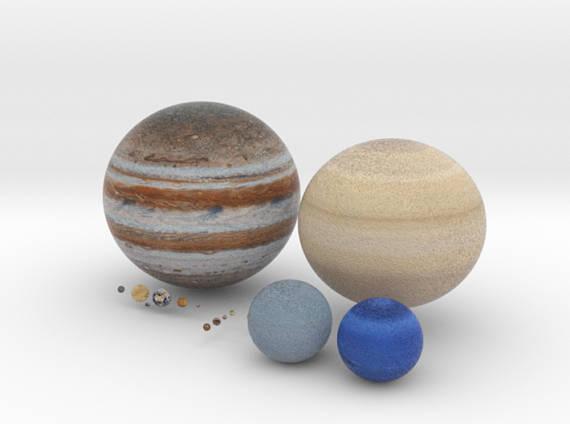 replica de varios planetas y lunas