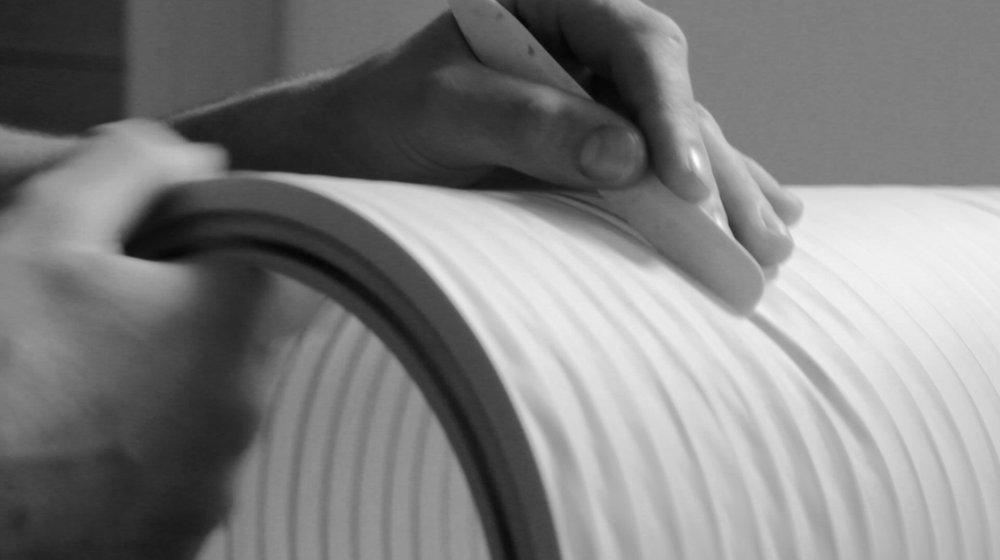 detalle de la produccion de la lampara tekio