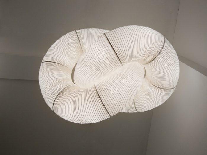 formas variadas de la lampara como circulos, ovalos