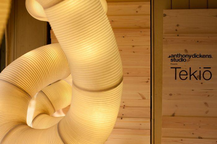 detalle de las luces led de la lampara tekio