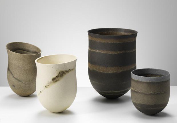 jarrones de ceramica en varios colores