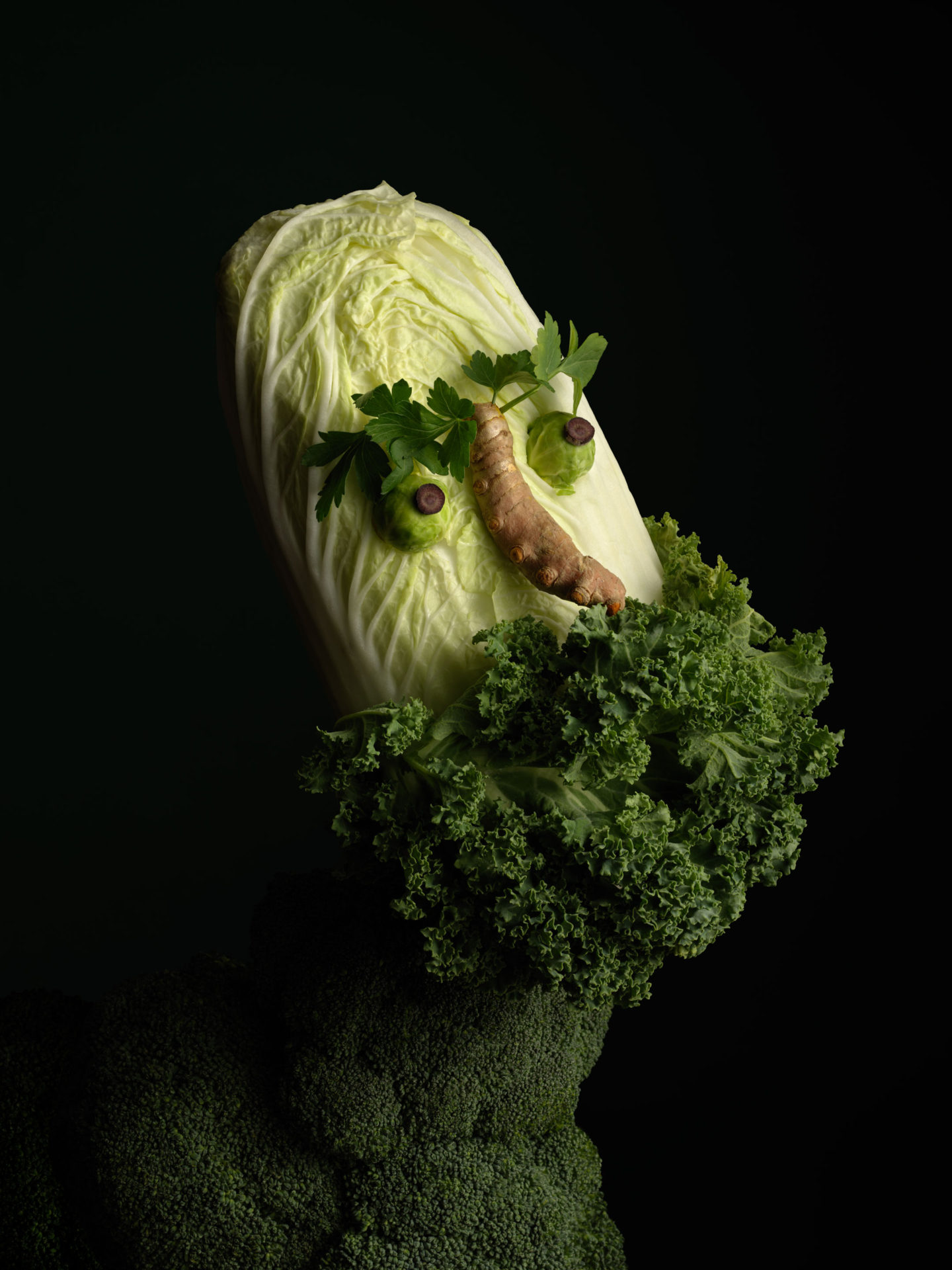 obra con vegetales de carl klein