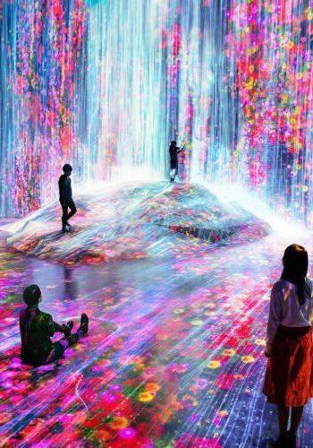 Bienvenidos a teamLab Borderless, un museo donde el arte digital te envuelve!