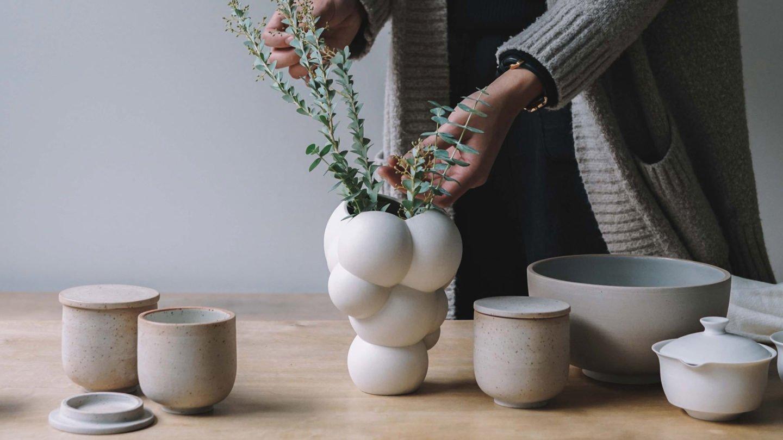 detalle de skum vase