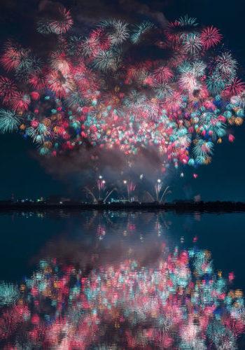 Los fuegos artificiales japoneses alcanzan otra dimensión gracias a Keisuke