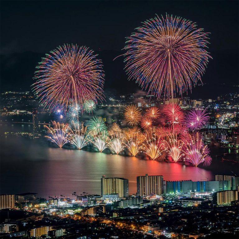 fuegos artificiales japoneses fotografiados por keisuke