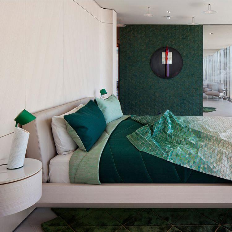 manta de madera en tonos verdes creadas por Elisa Strozyk