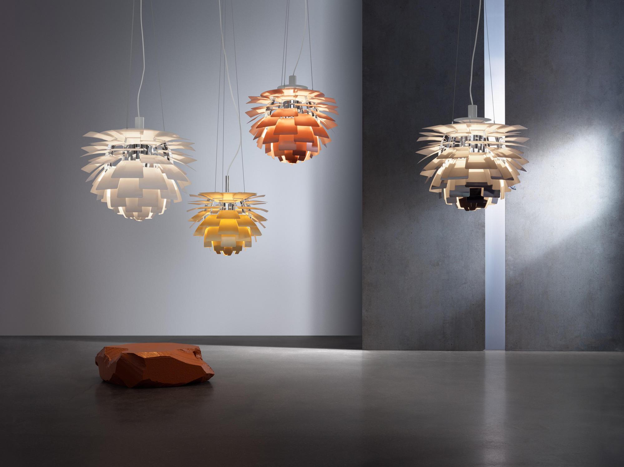 lámpara artichoke en diferentes colores