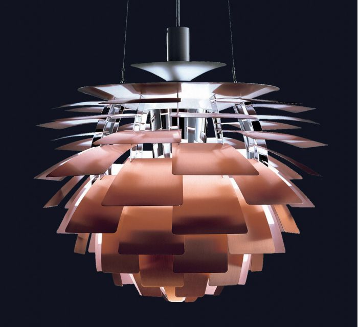 lampara artichoke diseñada por poul henningsen