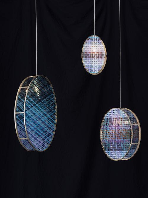 colección de lámparas decorativas Woven Glass