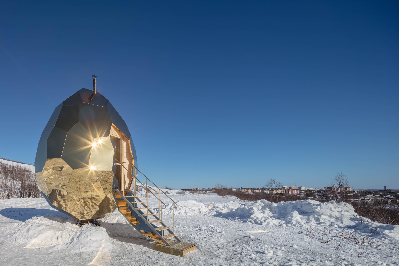 Solar Egg es una sauna pública instalada en Kiruna,