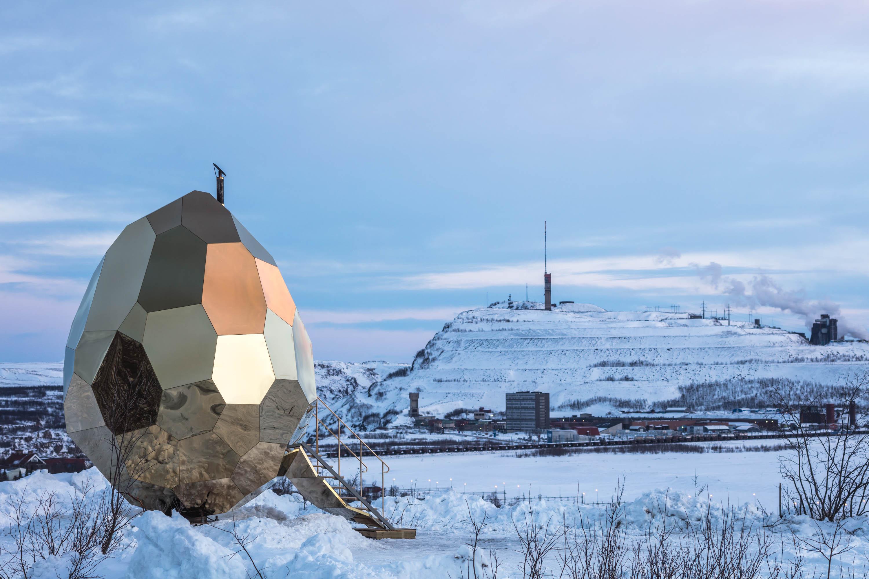 Solar Egg, sauna pública instalada en Kiruna