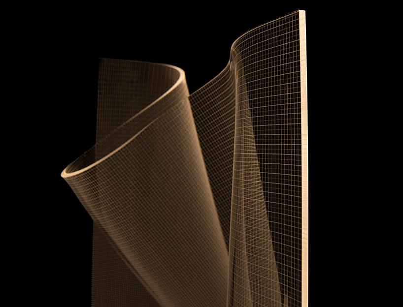 detalle de la estructura de la lampara gweilo