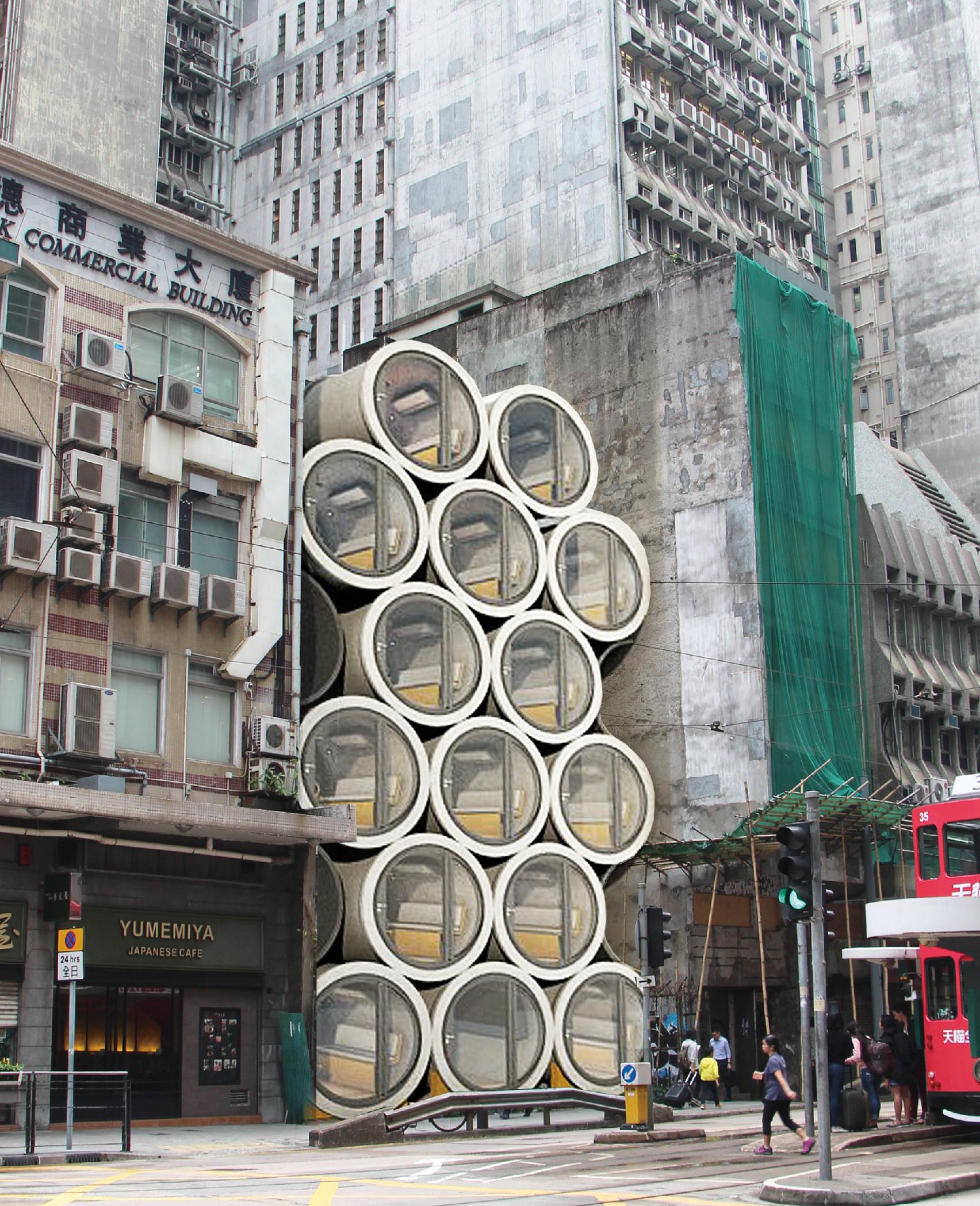 tubos de hormigon armado de James Law Cybertecture