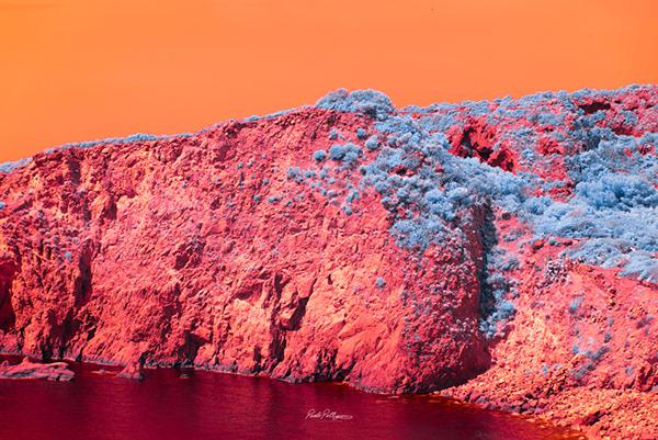 fotografía del paisaje de islas eolias que recuerda a marte