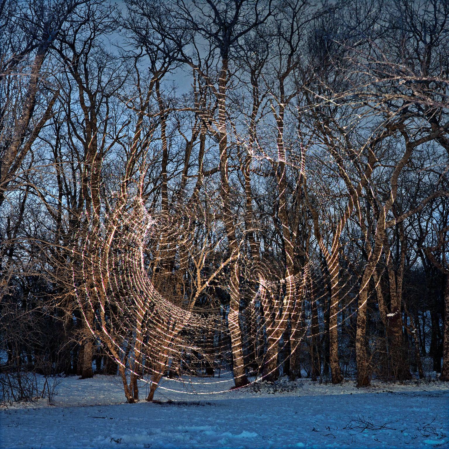 circulos concentricos de luz fotografía de javier riera