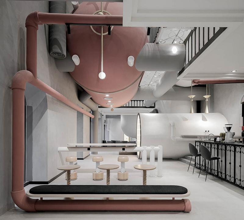 Vista general de las oficinas de Ideas Lab en Shangái obra del arquitecto Li Xiang