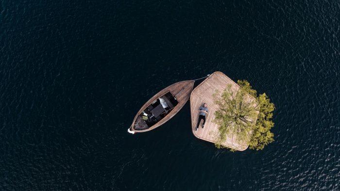 isla flotante parte del proyecto Copenhagen Islands,