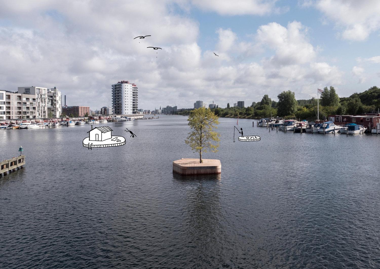 diferentes tarimas con diferentes actividades se unirán a esta isla flotante