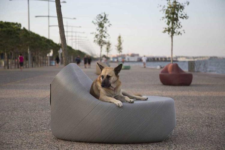 mobiliario urbano ergonómico realizado en 3d
