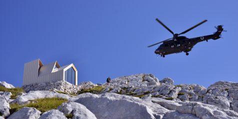 El refugio alpino Skuta ofrece espléndidas panorámicas de los Alpes eslovenos