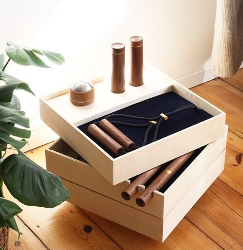 cajas de regalo con todos los elementos diseñados por kenko