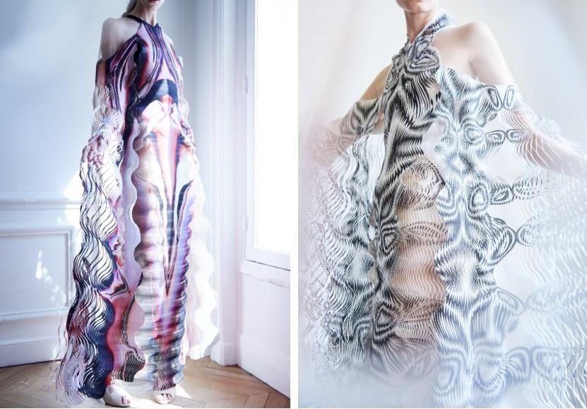 vestidos de iris van herpen impresos en 3d