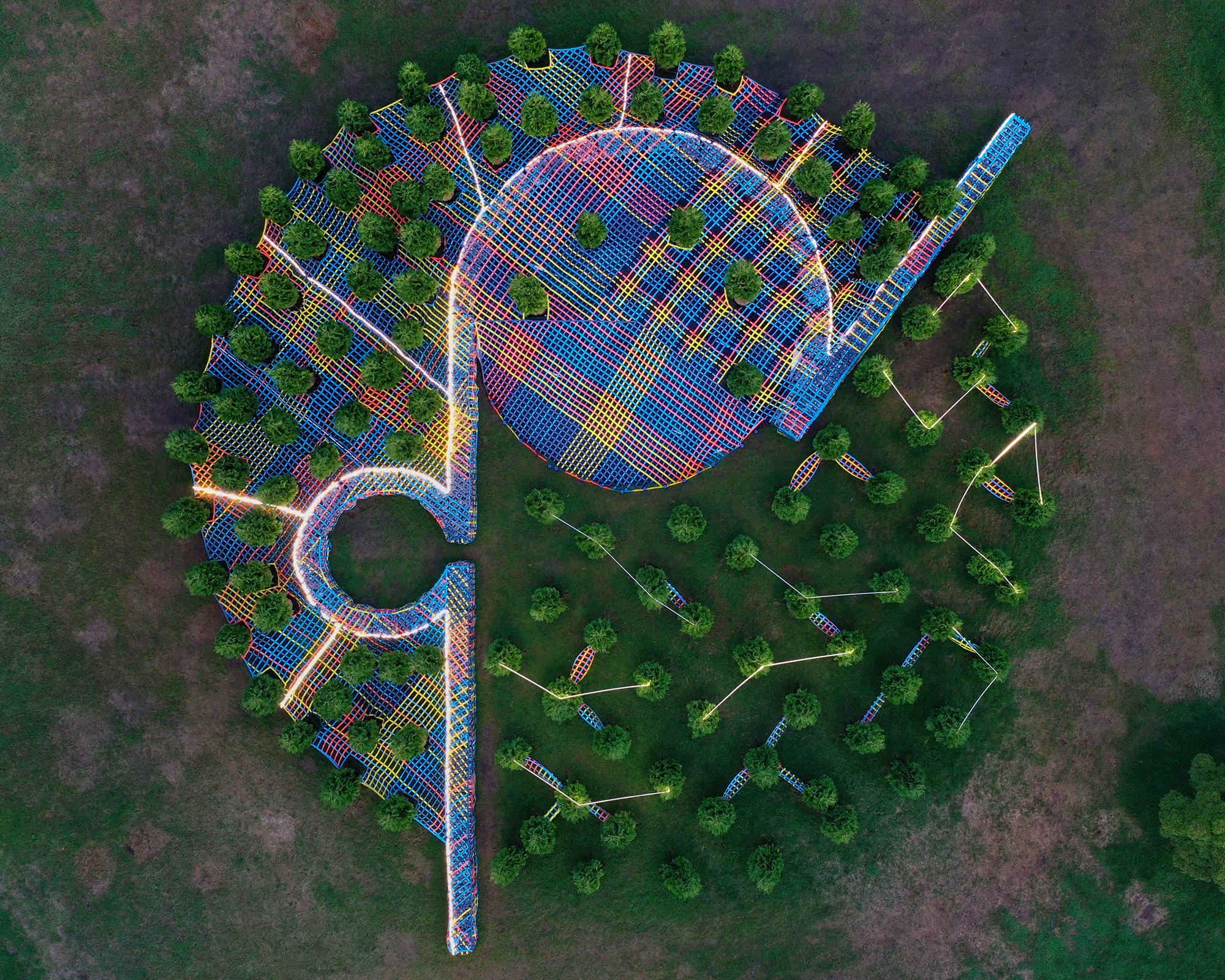 vista aerea de la instalacion creada por SO-IL