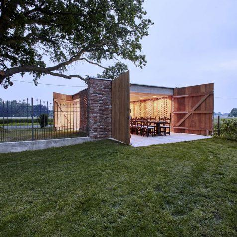 Remisenpavillon: el edificio multiusos que nació del fuego y la tormenta